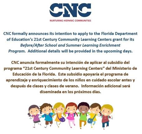 CNC Announcement
