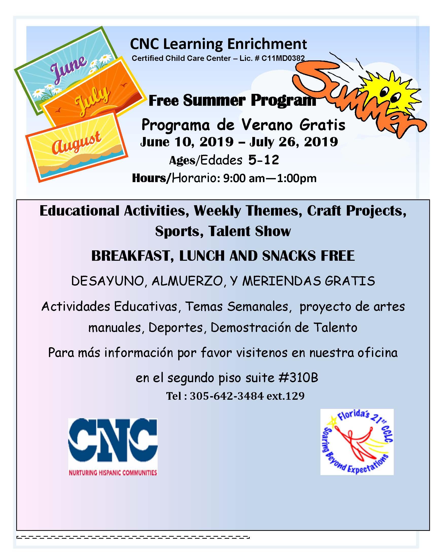Summer Camp Flyer- 21st CCLC